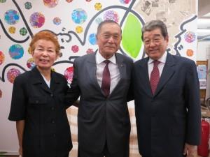 ACALの市田理事、池崎会長、藤本副会長