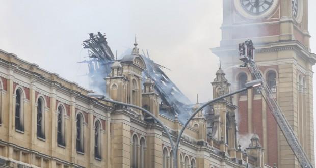 火災から一夜明けたMLPの様子(Gilberto Marques/A2IMG)