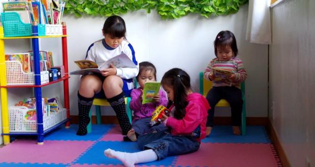 ソル・ナッセンテで学ぶ子供たち