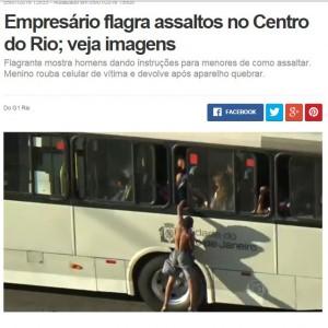 リオの街中で頻発する引ったくりのニュース映像(1月5日、グローボ局ニュース)