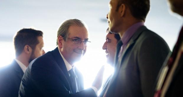 17日のクーニャ下院議長(Marcelo Camargo/Agência Brasil)