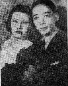 竹沢万次の息子ラモンと妻アルレテ(『足跡』より)