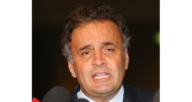 初めてデモに現れるも批判も浴びた野党PSDBのアエシオ党首(Lula Marques/Agencia PT)