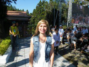 アルゼンチンから参拝に訪れたマリア・ガブリエラ・トゥルベルさん