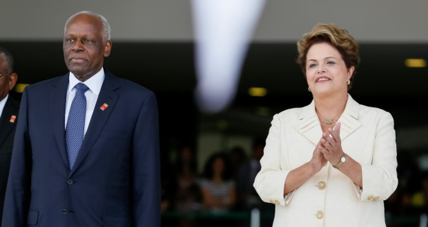 14年伯国訪問時のジョゼ・エドゥアルド大統領(左)(Roberto Stuckert Filho/PR)