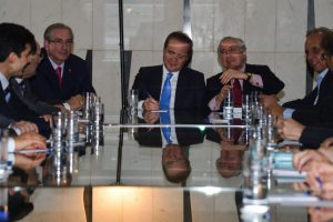 昨年9月8日にジャブル宮で行われた会議の様子(Foto: Valter Campanato/Agencia Brasil)