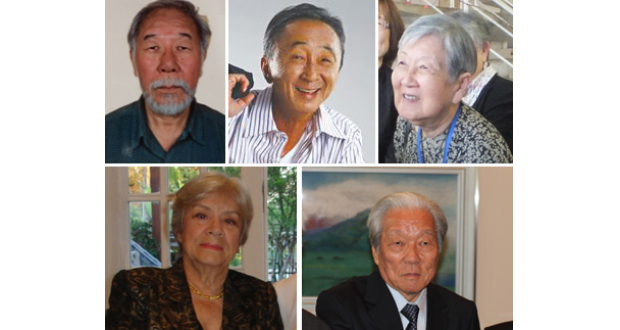 (左上から時計回りに)サクマ、山脇、香山、佐藤、メイレーレス各氏