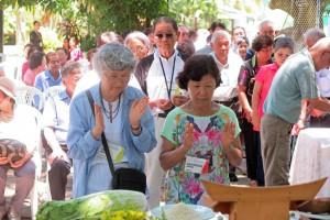 天理教式で行われた慰霊祭の様子