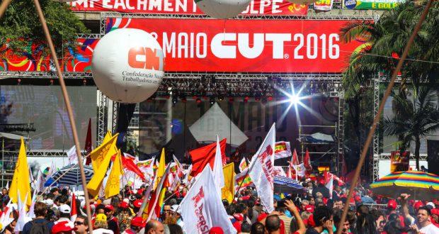 聖市ヴァーレ・ド・アニャンガバウーでのメーデーイベントの様子(Paulo Pinto/Agencia PT)