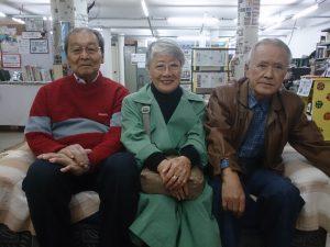 今年で84歳を迎える(左から)上岡、吉田、笠原さん