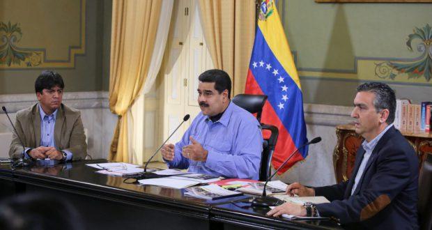 ジウマ大統領罷免問題でジウマ氏支持を表明したマドゥーロ氏(Francisco Batista/Presidencia de Venezuela, 17/03/2016)