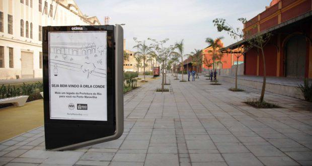 7日に開通したコンデ地区の歩行者専用道(Beth Santos/GERJ)