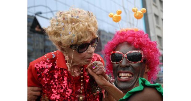 2008年2月、100歳のときにリオのカーニバルでのデルシー(Elza Fiúza/Agência Brasi)