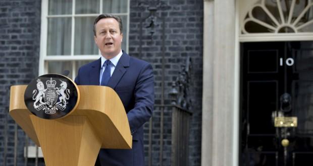 国民投票から一夜明け、英国のEU離脱を宣言するキャメロン首相(Tom Evans/Crown Copyright)
