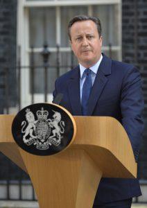 国民投票の結果を受け、辞任を発表するキャメロン首相(Foto: Tom Evans/Crown Copyright)
