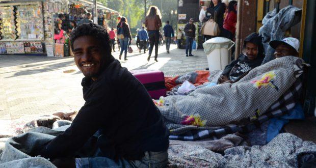 寒波で路上生活者は生命の危機に瀕している(Rovena Rosa/Agencia Brasil)