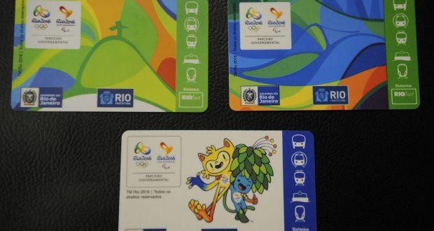 リオ五輪専用のリオカード3種(Tomaz Silva/Agência Brasil)