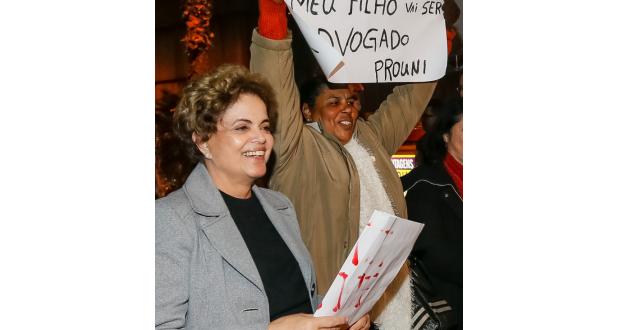 3日のジウマ大統領(Roberto Stuckert Filho/PR)