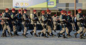 全州の市警、軍警、消防隊から選抜されたFNが五輪警備の配備についた(Fernando Frazao/Agencia Brasil)