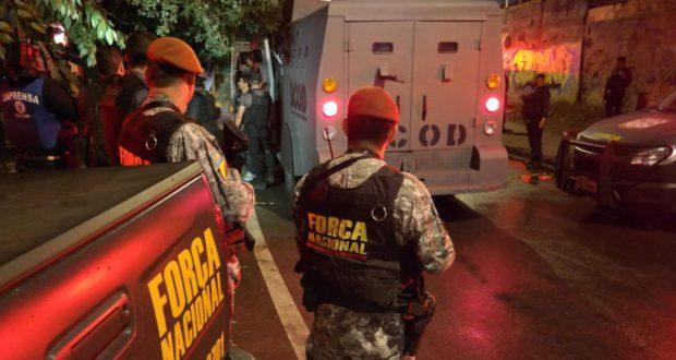 事件後にマレー地区での警備強化のために派遣された国家治安部隊(Vladimir Platonow/Agência Brasil)