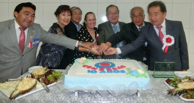 10周年のケーキカット