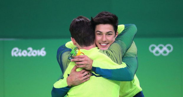 14日、銅メダルを獲得した際のノリ(Roberto Castro/Brasil2016)