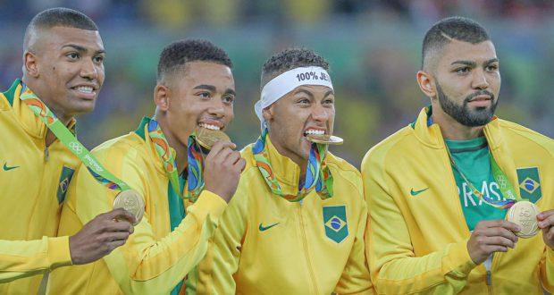金メダルを獲得した男子サッカーチーム(Ricardo Stuckert/CBF)