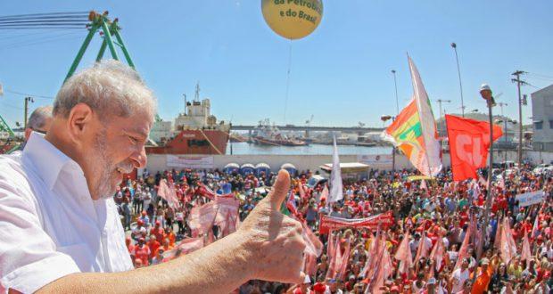 25日も石油業界従事者らの集会に参加したルーラ氏だが(Ricardo Stuckert/Instituto Lula)