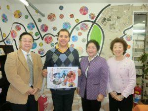 (左から)宮村さん、マルセロさん、森下さん、作本さん