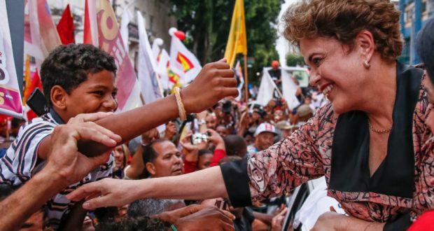 22日にサルヴァドールで行われた労働者党派集会でのジウマ前大統領(Roberto Stuckert Filho)