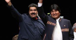 ベェネズエラのマドゥロ大統領とボリビアのエボ・モラエス大統領(Foto: AVN/ABI 5/3/2016)