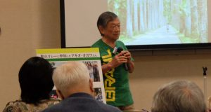 五輪を始め移民やコロニア、ブラジル社会について語った小川さん(提供写真)