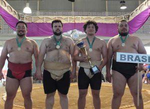 団体優勝したブラジルチーム