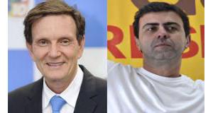 リオ市長選を争うクリヴェラ氏(左)とフレイショ氏(Arquivo/Agência Brasil)