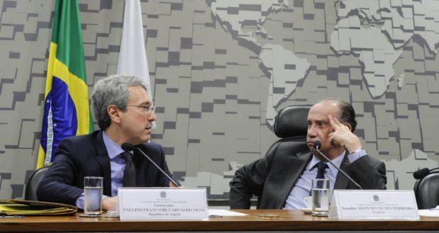 疑いの出ているアロイージオ・ヌーネス上院議員(Edilson Rodrigues/Agência Senado)