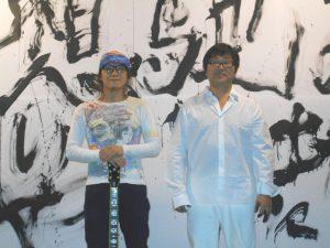 公演を終えた金田さん、吉沢さん