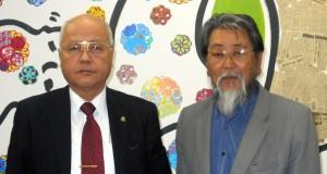 来社したSBPNの佐々木顧問、佐藤専務理事