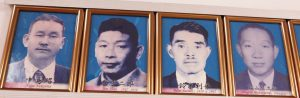 初期の会長の写真。左から中島昭、庄子二郎、鈴木利平、松山慎次郎
