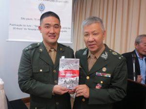日系社会での普及を呼びかける松田ルイ・ユタカ陸軍少将と小野田エドアルド中尉
