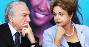 15年8月当時のジウマ氏とテメル氏(Lula Marques/AGPT)