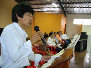 2006年2月、県連故郷巡りでアンドラジーナ文化体育協会を訪問した際、歓迎の挨拶をした小野ジャミル会長(当時)