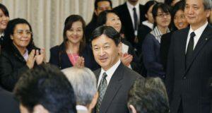第55回海外日系人大会の歓迎交流会に出席された皇太子さま=14年10月、東京・永田町の憲政記念館(共同)