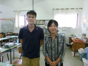 (左から)日本留学を目指す袴田さんと中村さん