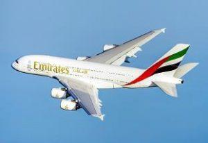 エミレーツ社が導入するエアバスA380機(広報資料より)