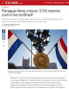 2015年時点でのパラグァイの好調な経済を報じるエザメ誌電子版