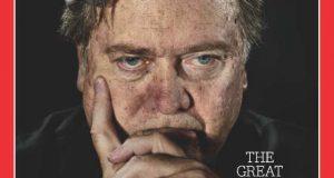 バノンを「MANIPULATOR」(トランプ大統領の操縦者)と呼んだ雑誌『TIME』の表紙