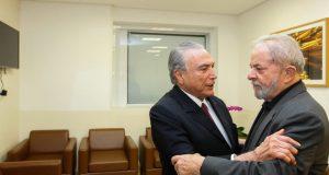 デラソンで言及されたルーラ氏(右)とテメル大統領(Beto Barata / PR)