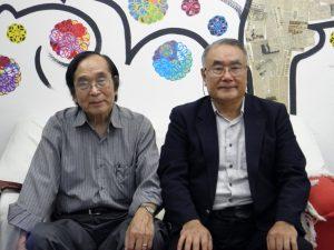 来社した小林副会長、黒澤会長