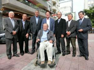 ミルトン市長代行を迎えた日系団体代表者ら