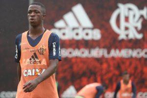 フラメンゴからレアル・マドリードに55億円で移籍の決まった16歳のヴィニシウス(Gilvam de Souza/Flamengo)